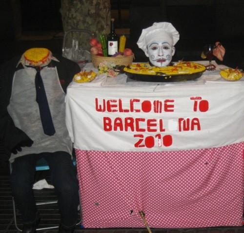 Figuras bizarras em Barcelona
