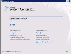 System Center Operations Manager 2012 -  Install