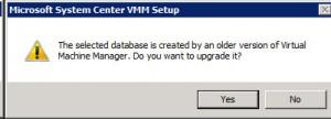 System Center VMM 2012 - Warning