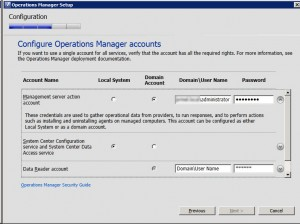 System Center Operations Manager 2012 - Accounts 1