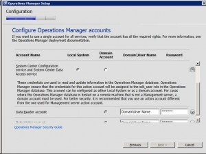 System Center Operations Manager 2012 - Accounts 2