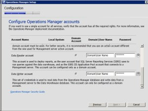 System Center Operations Manager 2012 - Accounts 3