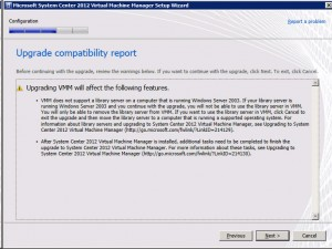System Center VMM2012 - Compatibility Report