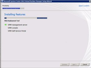 System Center VMM2012 - Install Features