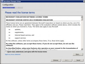 System Center Operations Manager 2012 -  License