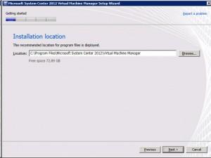 System Center VMM 2012 - Location