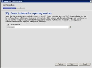 System Center Operations Manager 2012 - Sql Reports