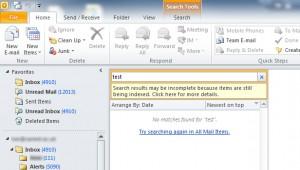 Windows 7 - Outlook 2010