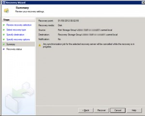 System Center Data Protection Manager 2012 - Summary