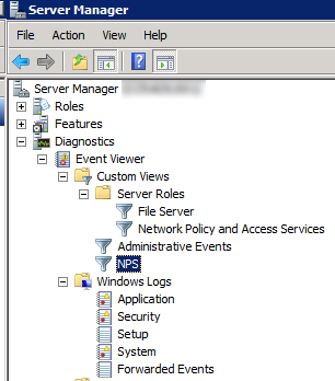 Create a Custom View for NPS in Event Viewer in Windows Server