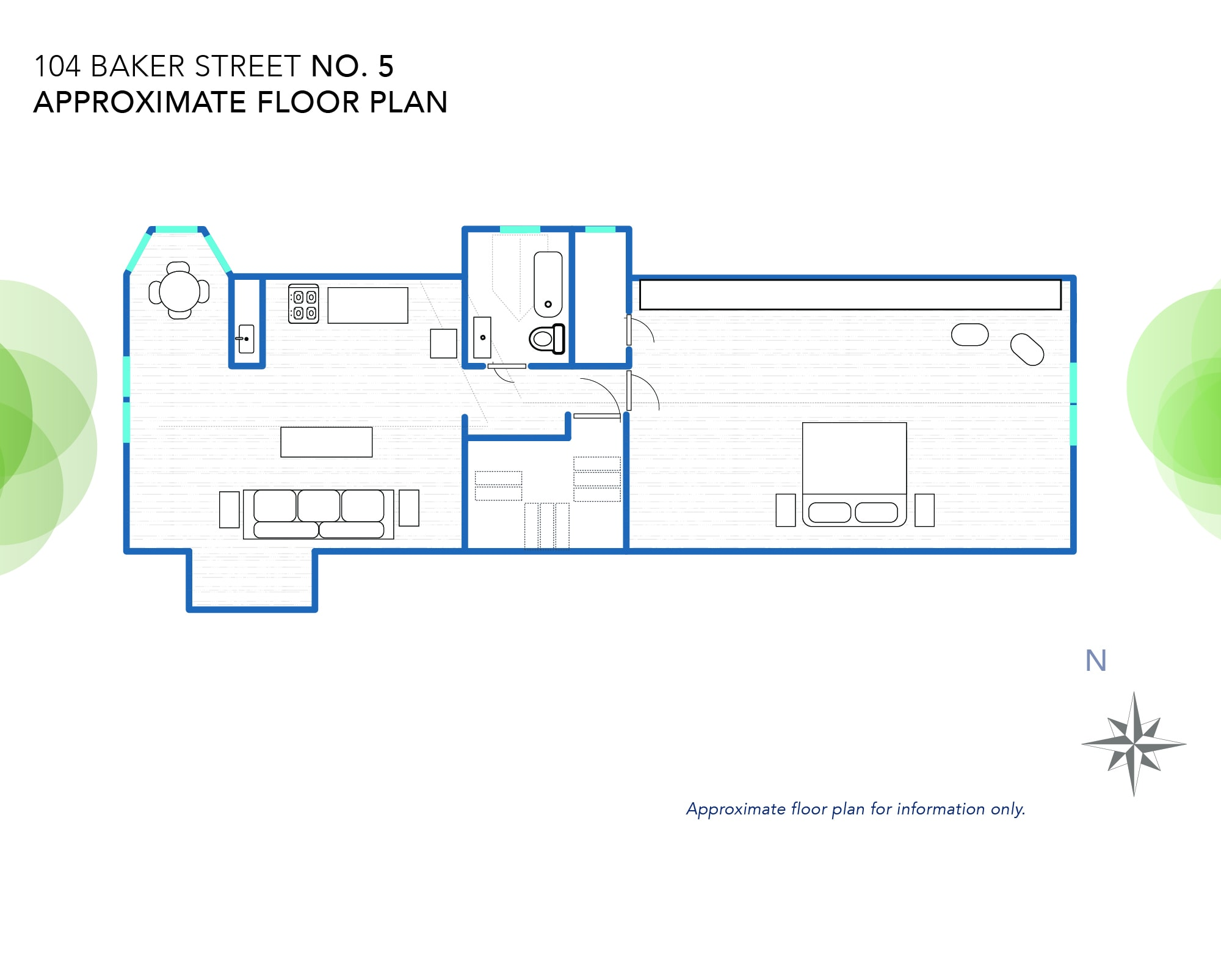 104 Baker's Floor Plan (approximately)
