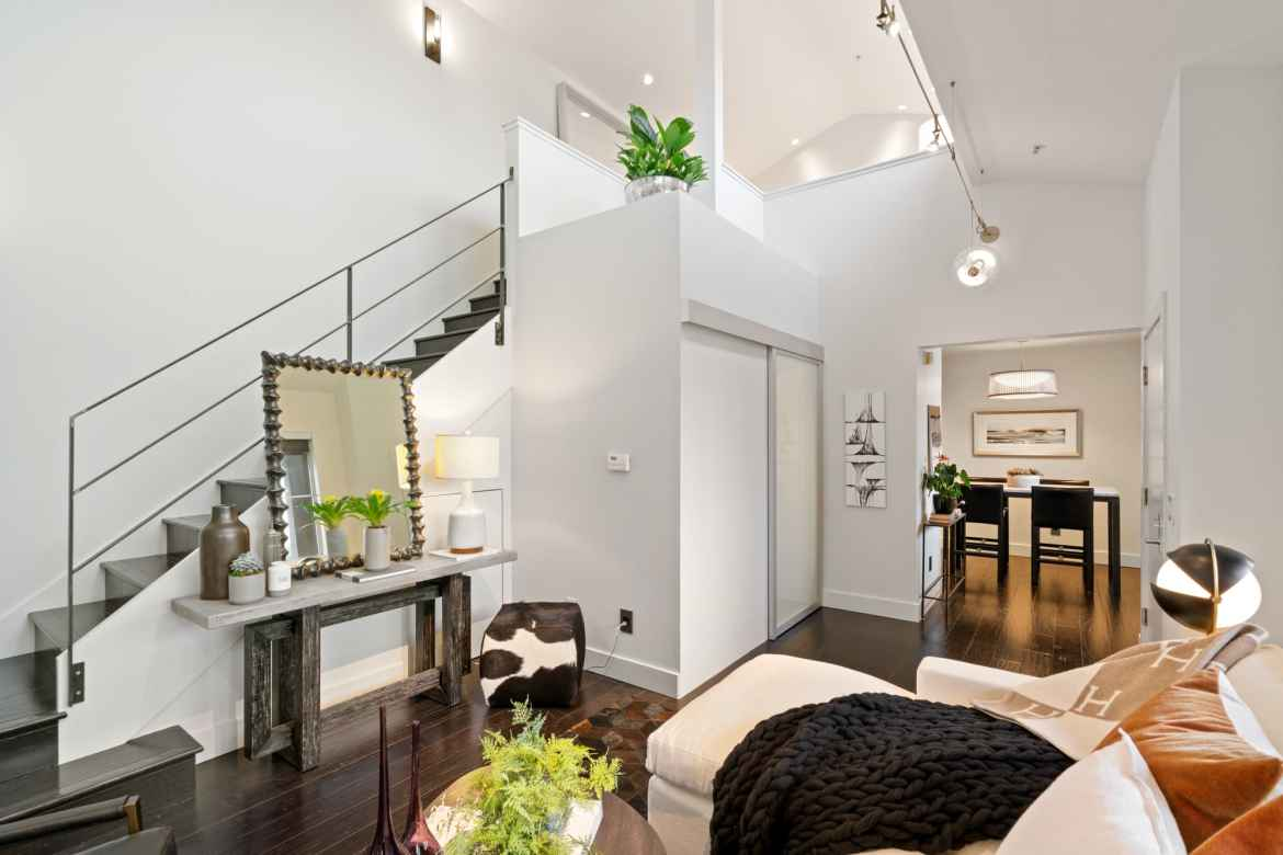 342 Hayes, #11K. A dramatic penthouse loft with a bright disposition, bespoke finishes with a central yet quiet location with parking and laundry in the heart of Hayes Valley. Listed with Kevin Ho and Jonathan McNarry, Vanguard Properties, San Francisco.
