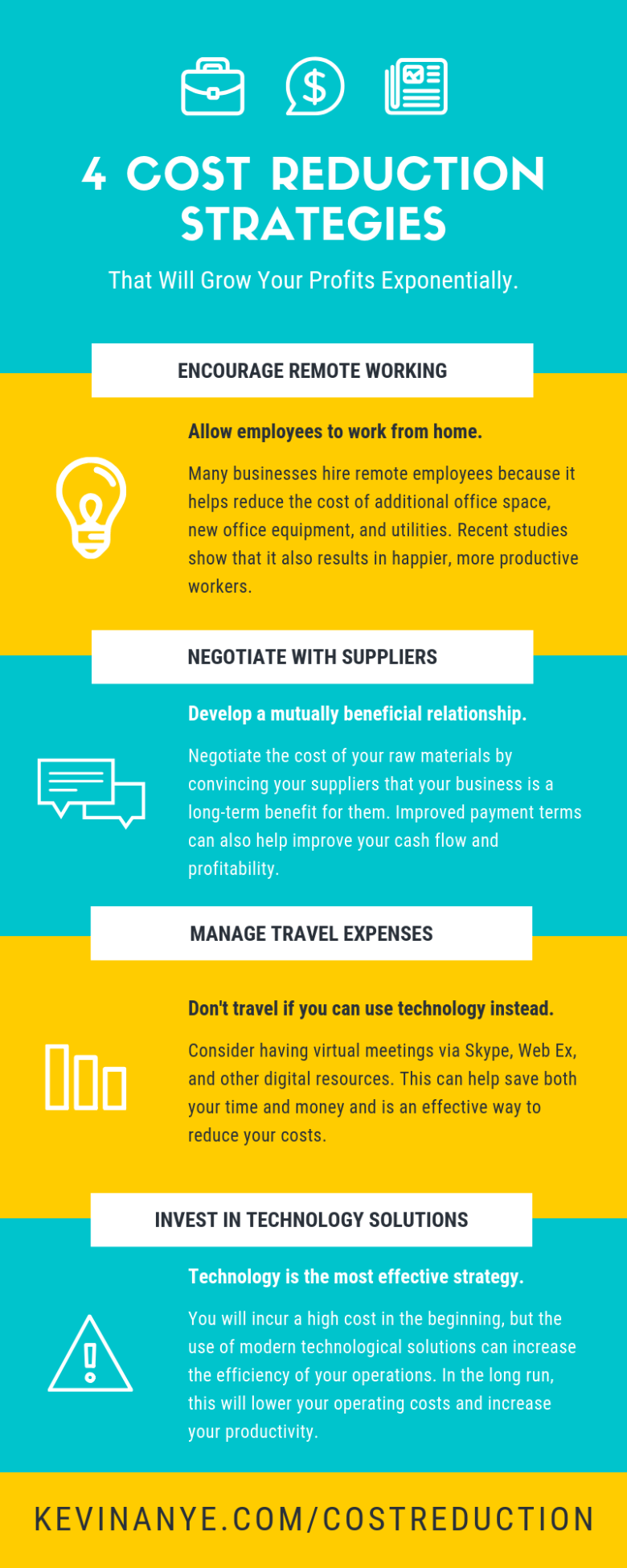 Cost Reduction Strategies Infographic