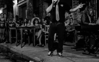 The Tango Singer on the Sidewalk