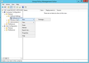 deploy vnc via group policy