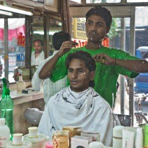 The barbers shop, Haridwar, India