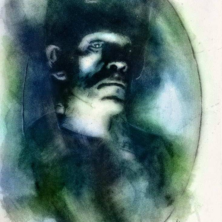 Frankenstein Watercolor MeatRoots Art