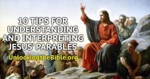 jesus parables in order
