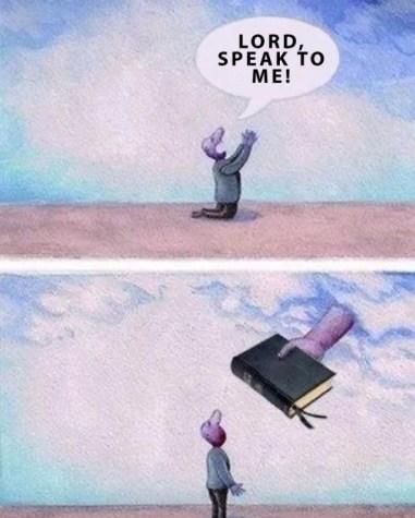 Christian Meme Graphic Humor - Lord Speak to Me