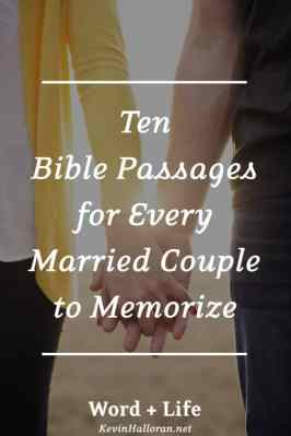 Bible Passages for Every Married Couple to Memorize - Scripture Verses