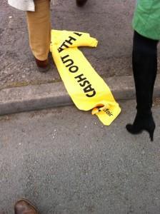 Betfair scarves thrown away