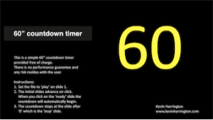 60 second countdown timer