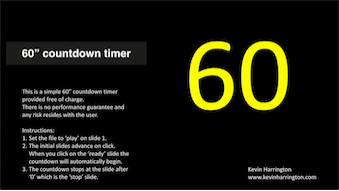 60 second countdown timer for use on PowerPoint