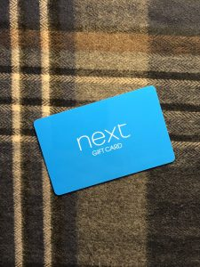 Next gift card and scarf