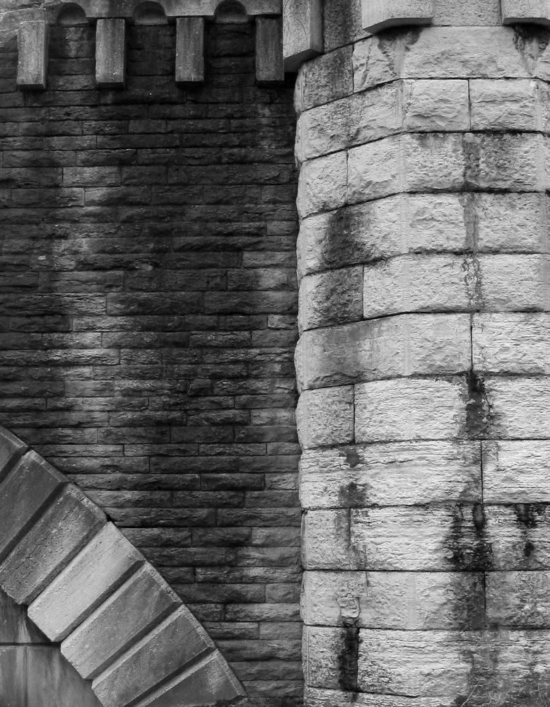 Old Cincinnati water works wall