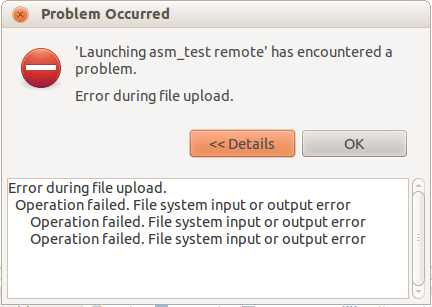 Input/Output error