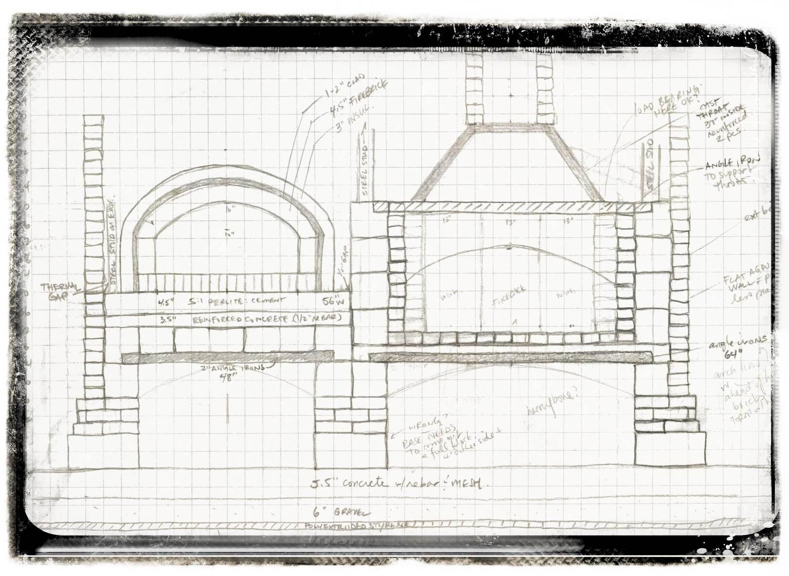 Masonry Kitchen Internal Drawings