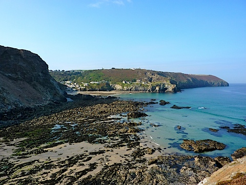 Trevaunance Cove from Trevellas Combe