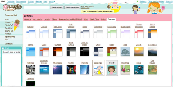 Gmail Themes
