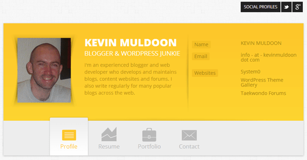 Old Kevin Muldoon Resume Design