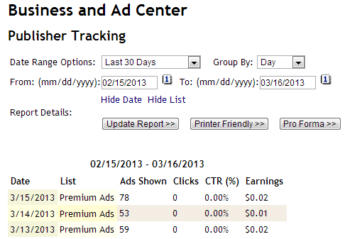Opt-In Ad Reports