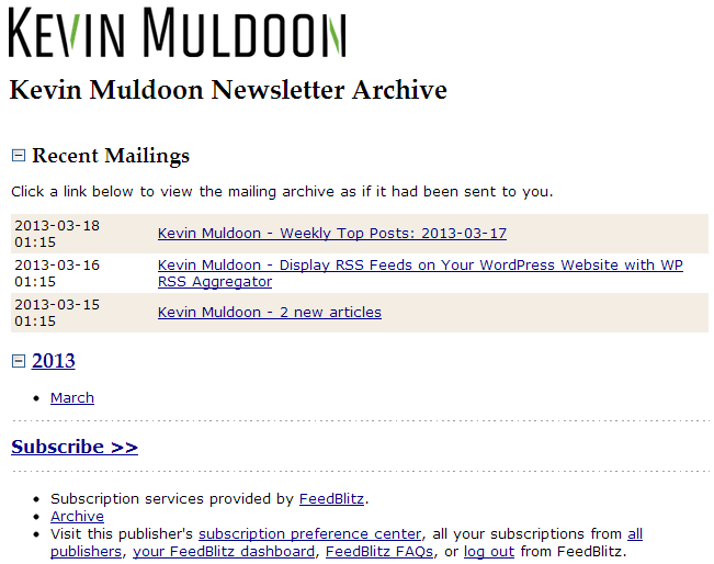 Public Newsletter Archive