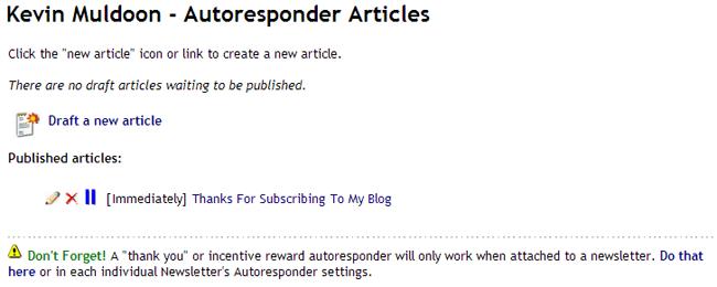 Auto Responder Articles