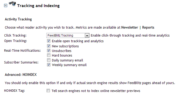 Tracking and Indexing