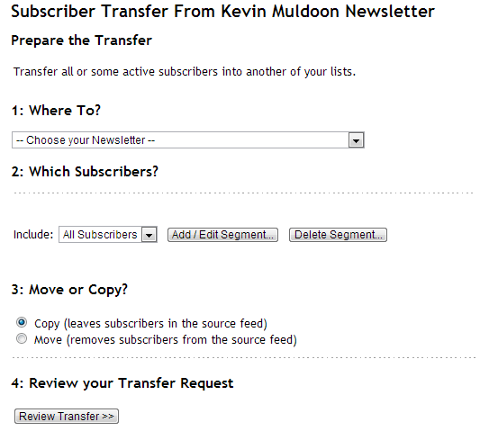Subscriber Transfer