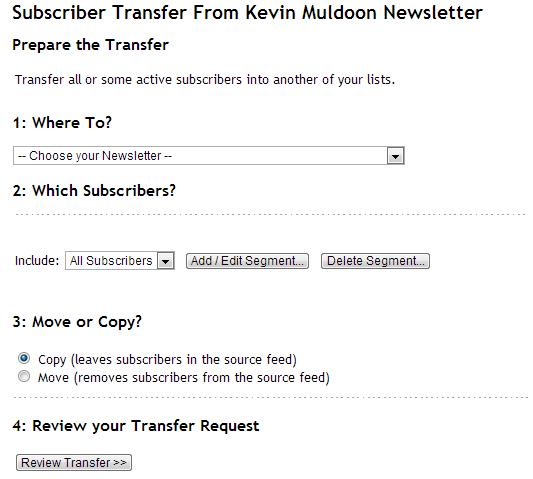 Subscriber Transfer