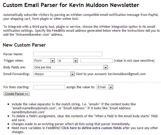 Custom Email Parser