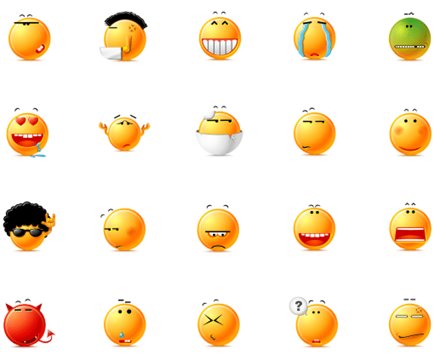 Buttery Emoticons Icons