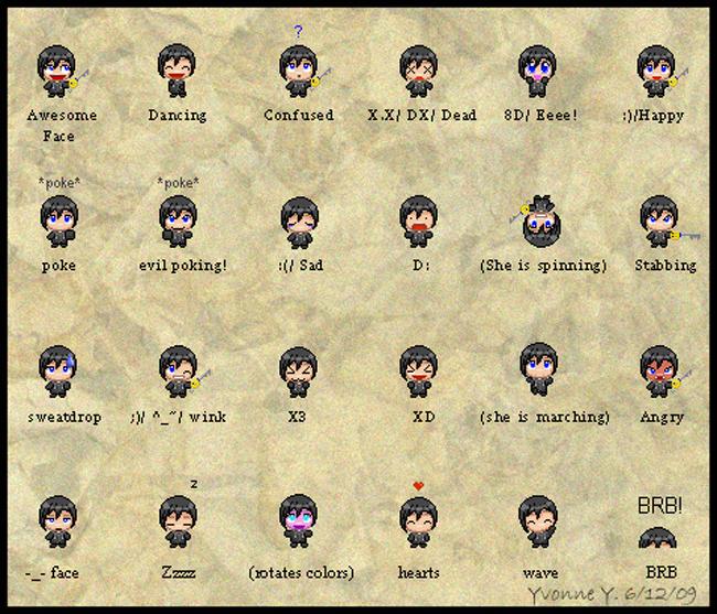 Chibi Xion Emoticons