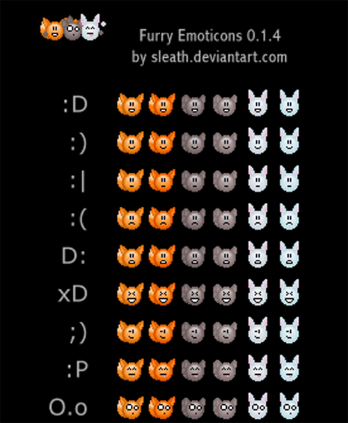 Furry Emoticons 0.1