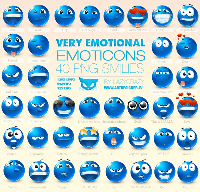 Very Emotional Emoticons