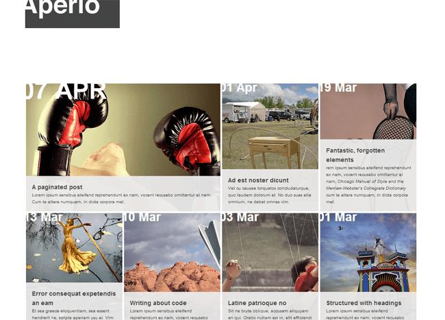 Aperio WordPress Theme