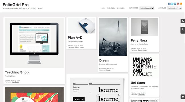 FolioGrid Pro WordPress Theme