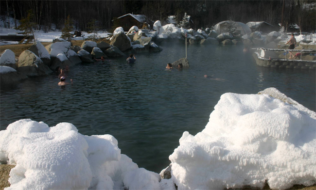 Take a Bath in a Hot Spring