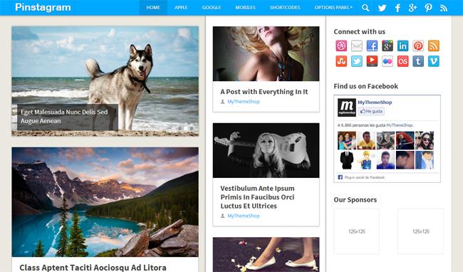Pinstagram WordPress Theme