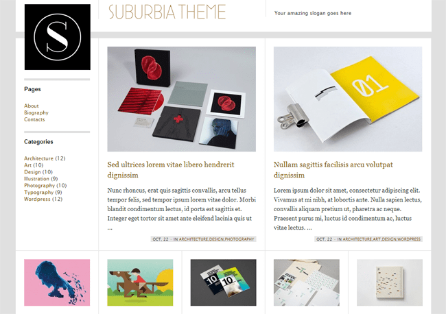 Suburbia WordPress Theme